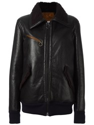 Golden Goose Deluxe Brand Zipped Shearling Jacket Brown