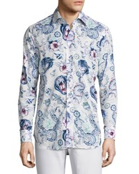 Etro Tattoo Print Sport Shirt Multicolor