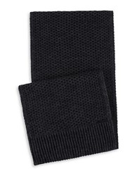 Calvin Klein Two Tone Thermal Knit Scarf Charcoal