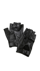 Carolina Amato Fingerless Moto Gloves Black