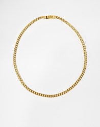 Mister Chain Link Necklace Gold