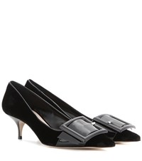 Miu Miu Velvet Kitten Heel Pumps Black