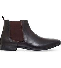 Kg By Kurt Geiger Bracknell Leather Chelsea Boots Brown