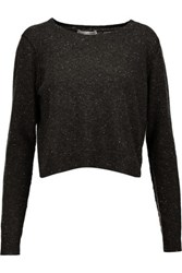 Autumn Cashmere Two Tone Sweater Charcoal