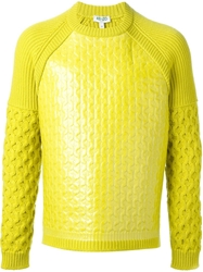 Kenzo Coated Cable Knit Sweater Green