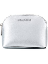 Michael Michael Kors Top Zip Pouch Metallic