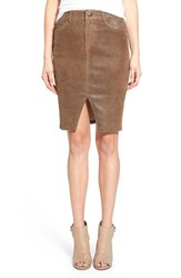 Joe's Jeans Women's Joe's Notch Front Leather Skirt