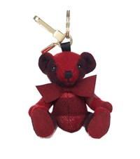 Burberry Shoes And Accessories Thomas Check Bear Charm Female Red