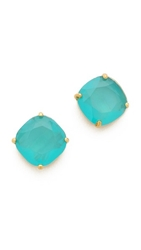 Kate Spade Small Square Stud Earrings Turquoise