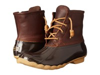 Sperry Saltwater Tan Dark Brown Women's Lace Up Boots