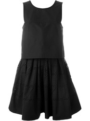 Fendi Perforated Skirt Dress Black