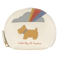 Radley Little Ray Of Sunshine Small Leather Coin Purse Ivory