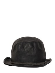 Move Perforated Leather Bowler Hat