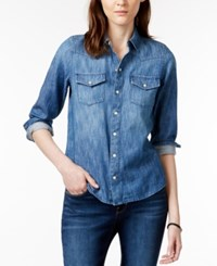 Lucky Brand Western Long Sleeve Denim Shirt
