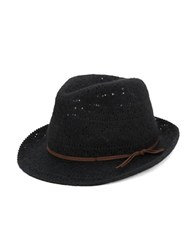 Collection 18 Banded Knit Fedora Black