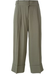 Antonio Marras Loose Cropped Trousers Green