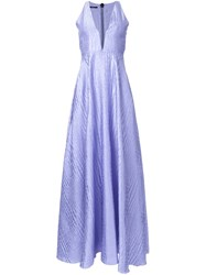Alex Perry 'Lucille' Gown Pink And Purple