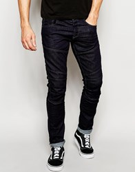 Jack And Jones Jack And Jones Rinse Wash Jeans In Slim Fit With Panels Blue
