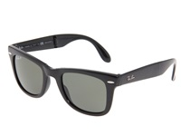 Ray Ban Rb4105 Folding Wayfarer Polarized 50 Medium Black Polarized Lens Fashion Sunglasses