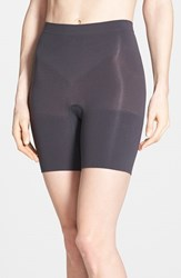 Plus Size Women's Spanx 'Power Short' Mid Thigh Shaper Very Black