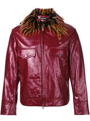 Nicopanda Leather Jacket Red