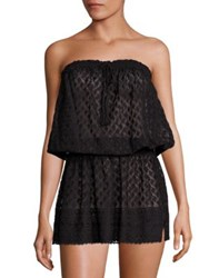 Melissa Odabash Embroidered Bandeau Beach Dress Black