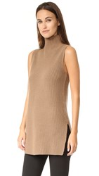 Theory Embree Sleeveless Mock Neck Sweater Chicory