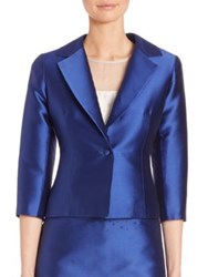 Teri Jon By Rickie Freeman Gazar Jacket Royal