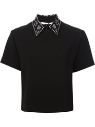 Moschino Cheap And Chic Embellished Top Black