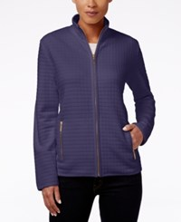 Karen Scott Quilted Zipper Front Jacket Only At Macy's Cassis