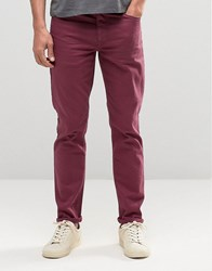 Asos Skinny Jeans In Burgundy Oxblood Red