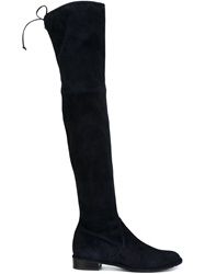 Stuart Weitzman Thigh High Boots Blue