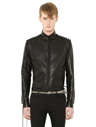 Haider Ackermann Lace Up Leather Shirt