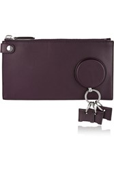 Alexander Wang Leather Key Wallet Purple