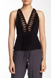 Indah Silk Lace Camisole Black