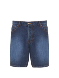 Ami Alexandre Mattiussi Denim Shorts Blue