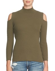 1.State Cold Shoulder Sweater Olive Tree