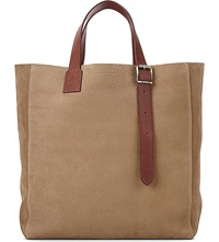 Aspinal Of London A Tote Nubuck Leather Bag Tan