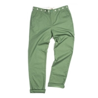 Creep Embroidered Weekend Chinos In Green Atoo.Co.Uk