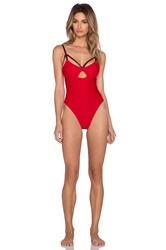 Blue Life American Woman Swimsuit Red