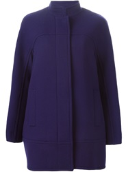 Gianluca Capannolo Standing Collar Jacket Blue