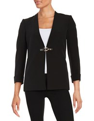 Calvin Klein Buckle Detailed Blazer Black