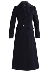 Dorothy Perkins Military Maxi Classic Coat Navy Dark Blue
