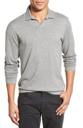 Men's James Perse Long Sleeve Cotton Wool And Cashmere Polo Shirt