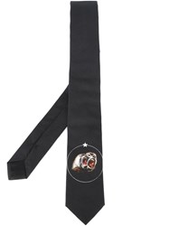 Givenchy Baboon Print Tie Black