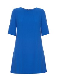 Goat Clementine Wool Crepe Dress Blue