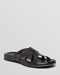 The Men's Store At Bloomingdale's Criss Cross Sandals Black