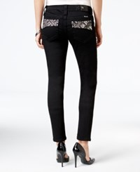 Miss Me Embroidered Black Wash Skinny Jeans