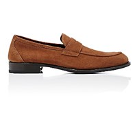 Isaia Men's Apron Toe Penny Loafers Brown