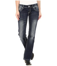 Rock And Roll Cowgirl Low Rise Bootcut In Dark Vintage W0 5608 Dark Vintage Women's Jeans Navy